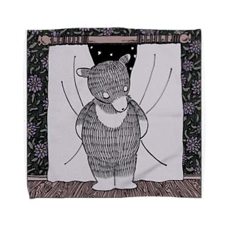 紫苑とクマ🧸 Towel handkerchiefs