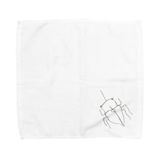 かぶとむし Towel handkerchiefs