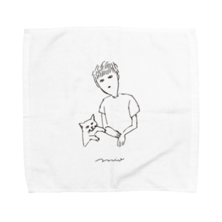 mioeoのぺアルック Towel handkerchiefs