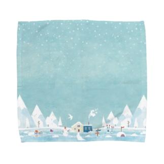 北欧っぽい冬景色 Towel Handkerchief