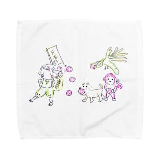 ももたろう Towel handkerchiefs