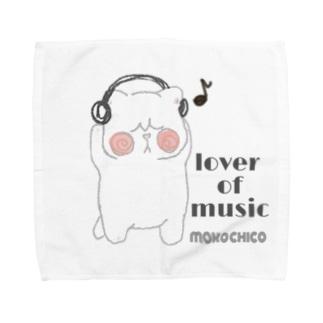 lover of music ブサネコさん Towel handkerchiefs
