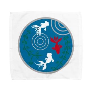 金魚・丸 Towel handkerchiefs