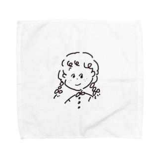 381ラクガキガール Towel handkerchiefs