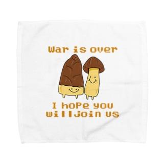 War is over !きのこたけのこ戦争終結 Towel Handkerchief