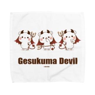 ゲスくまデビル Towel handkerchiefs