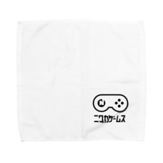 NIWAKA-WHITE タオルハンカチ-A Towel handkerchiefs