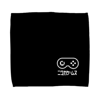 GT-BLACK タオルハンカチ-A Towel handkerchiefs
