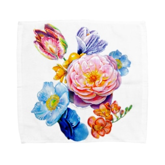 flowers 陰 Towel handkerchiefs