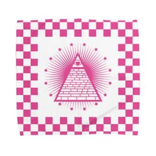 秘密結社(ピンク) Towel handkerchiefs