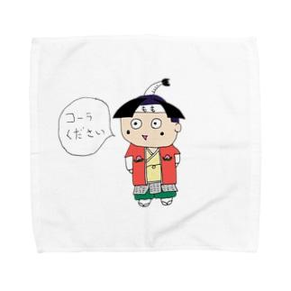 コーラ好きのももくん Towel handkerchiefs