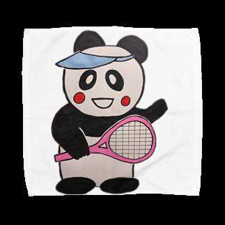 ル.ボヌールのテニス頑張るパンダちゃん Towel handkerchiefs