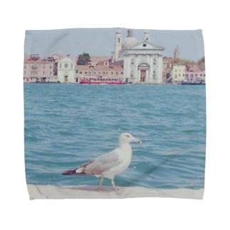 ベネチアのかもめ Towel Handkerchief
