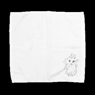 鸚哥館のantiracismニャンコ Towel handkerchiefs