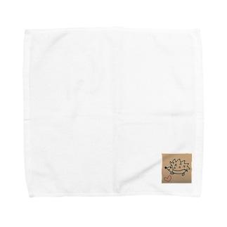 幸せハリネズミ Towel handkerchiefs