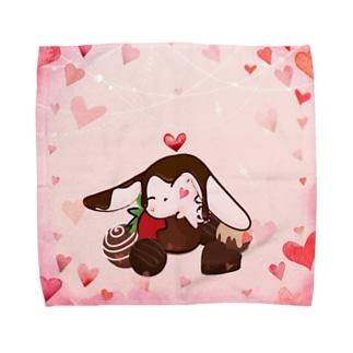 さくらいろのうさぎ チョコレート Towel handkerchiefs