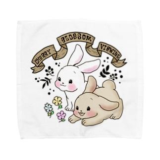 レトロアニマル 春待ちうさぎ Towel handkerchiefs