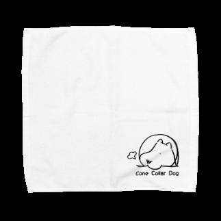 えすえふ🐾のConeCollarDog 【メイン:ブラック】 Towel handkerchiefs
