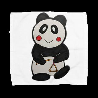 ル.ボヌールのトライアングルパンダちゃん Towel handkerchiefs