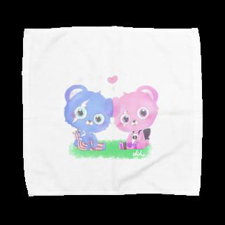 チコのあおぴんくまちゃん Towel handkerchiefs