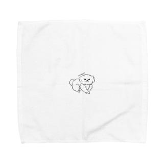 モフモフわんこ様 Towel handkerchiefs