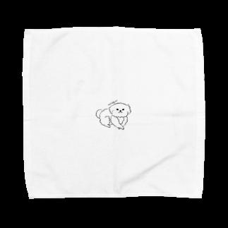 かまだ まゆめのモフモフわんこ様 Towel handkerchiefs