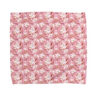 【Magnolia/マグノリア】 コーラルピンク Towel handkerchiefs