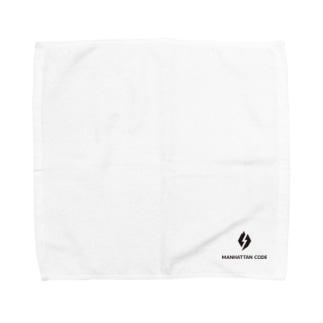 MHT_LOGO ー BLACK Towel handkerchiefs