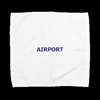 アメリカンベースのエアライングッズ AIRPORT Towel handkerchiefs