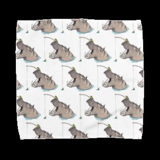 Leee_sanのカバと釣りカエル Towel handkerchiefs