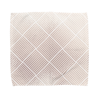 SANKAKU DESIGN STOREのかけあみピンクゴールド。 Towel handkerchiefs