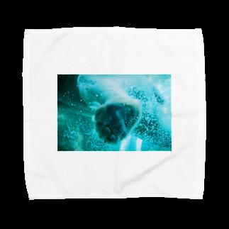 wa_d3300_のにくきゅうくん Towel handkerchiefs
