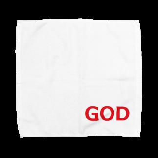アメリカンベースのGOD 神様 Towel handkerchiefs