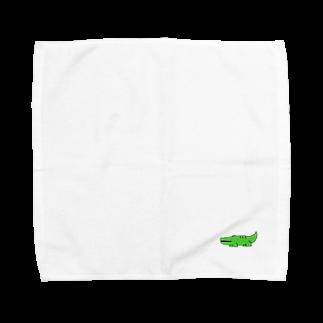 play_imageの【Yurumal 1】 wani Towel handkerchiefs