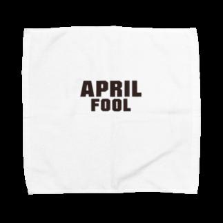 グラフィンの4月1日エイプリルフール用デザイン April fool Towel handkerchiefs