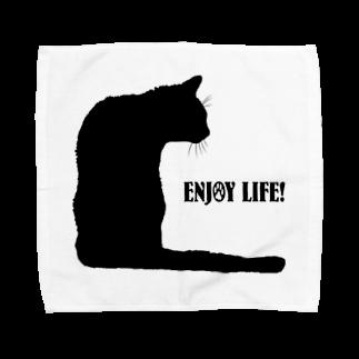 猫と釣り人のCAT_21_1KW Towel handkerchiefs