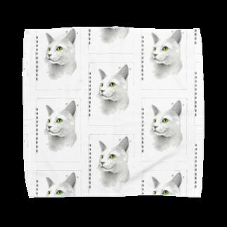 Leee_sanのロシアンブルー Towel handkerchiefs