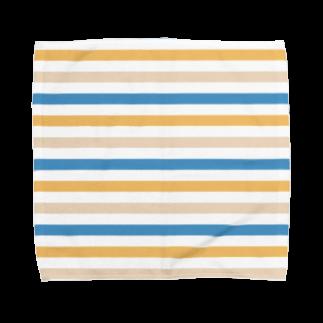 SANKAKU DESIGN STOREの北欧カラーボーダー。 Towel handkerchiefs