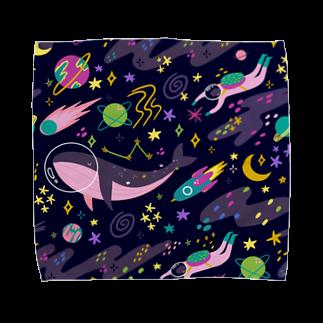 SANKAKU DESIGN STOREの夜の宇宙海遊ツアー。 Towel handkerchiefs