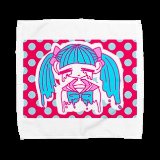 嘔吐屋本舗のぴえんちゃん Towel handkerchiefs
