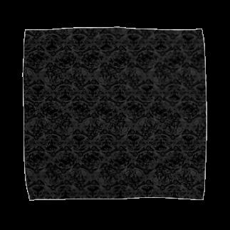 胃弱の絨毯 IJAKUCARPETのA Thousand Names(ブラック) Towel handkerchiefs