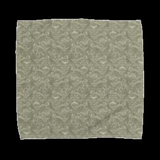 胃弱の絨毯 IJAKUCARPETのA Thousand Names(カーキ) Towel handkerchiefs