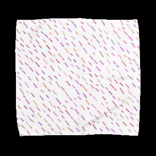 SANKAKU DESIGN STOREのハッピーPOPピンクA。 Towel handkerchiefs