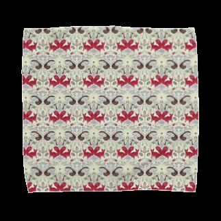 胃弱の絨毯 IJAKUCARPETの木の実泥棒(カラーホワイト) Towel handkerchiefs