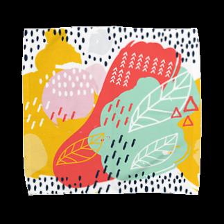 SANKAKU DESIGN STOREの南国fruitsモダンアート。 Towel handkerchiefs