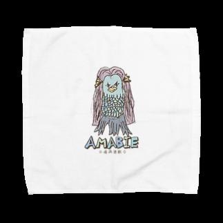 無彩色デザイン販売所のChildren's Art / AMABIE アマビエ Towel handkerchiefs