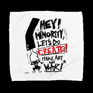 monkeytunerecordsのMAKE ART NOT WAR Towel handkerchiefs