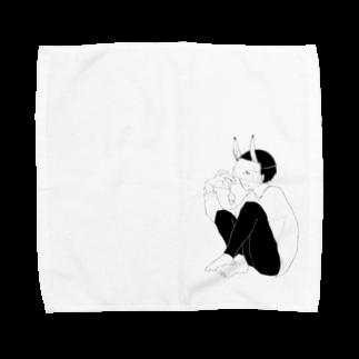 らくがきの鬼ちゃん Towel handkerchiefs