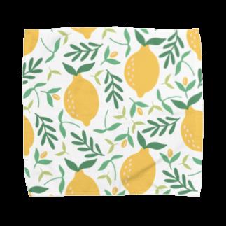SANKAKU DESIGN STOREの北欧風レモン詰め合わせ。 Towel handkerchiefs