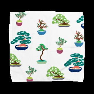 Nishihiroのカラフル盆栽 Towel handkerchiefs